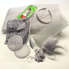 Milliner's Silver and Grey 15 Piece Starter Hamper